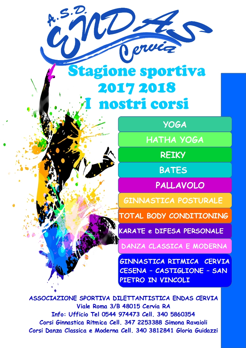 Stagione Sportiva 2017 2018 I Nostri Corsi Endas Cervia